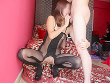 Sexy minx fucking a dildo in Asian porn pictures
