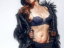 Cindy Crawford in Lingerie Before Photo Shopping