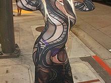 Nadeea Volianova In Transparent Dress
